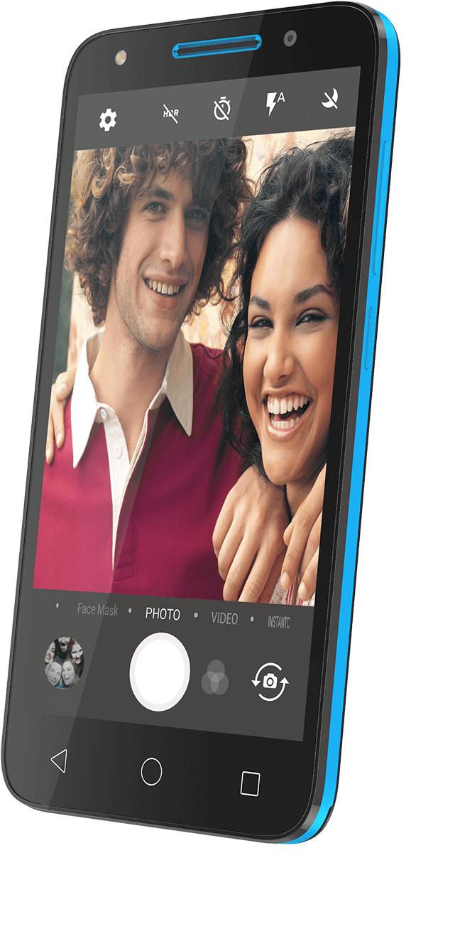 """Alcatel U5 3G 12.7 cm (5"""") 1 GB 8 GB Black,Blue 2050 mAh"""