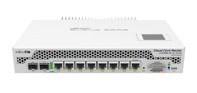 Mikrotik CCR1009-7G-1C-1S+PC Ethernet LAN White wired router