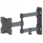 "Manhattan Monitor/TV Wall Mount, Full Motion (3 pivots & tiltable), 1 screen, 13-27"", Vesa 75x75 to 100x100mm, 20kg, Black"