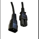 Videk IEC (C14) / IEC (C15) 2.0m 2m C14 coupler C15 coupler Black power cable
