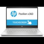 "HP Pavilion x360 14-cd1004na Silver Hybrid (2-in-1) 35.6 cm (14"") 1920 x 1080 pixels Touchscreen 1.6 GHz 8th gen Intel® Core™ i5 i5-8265U"