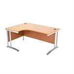 Arista Right Hand Maple 1800mm Radial Desk KF838663