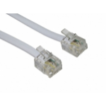 Cables Direct RJ-11, 10m White
