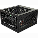 Aerocool INTEGRATOR 500W PSU 12CM BLACK FAN ACTIVE PFC TW CAPS UK CABLE