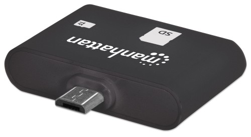 Manhattan Mobile OTG Card Reader/Writer, 24-in-1, OTG enabled Smartphone/Tablets using Micro-USB port, Black, Blister