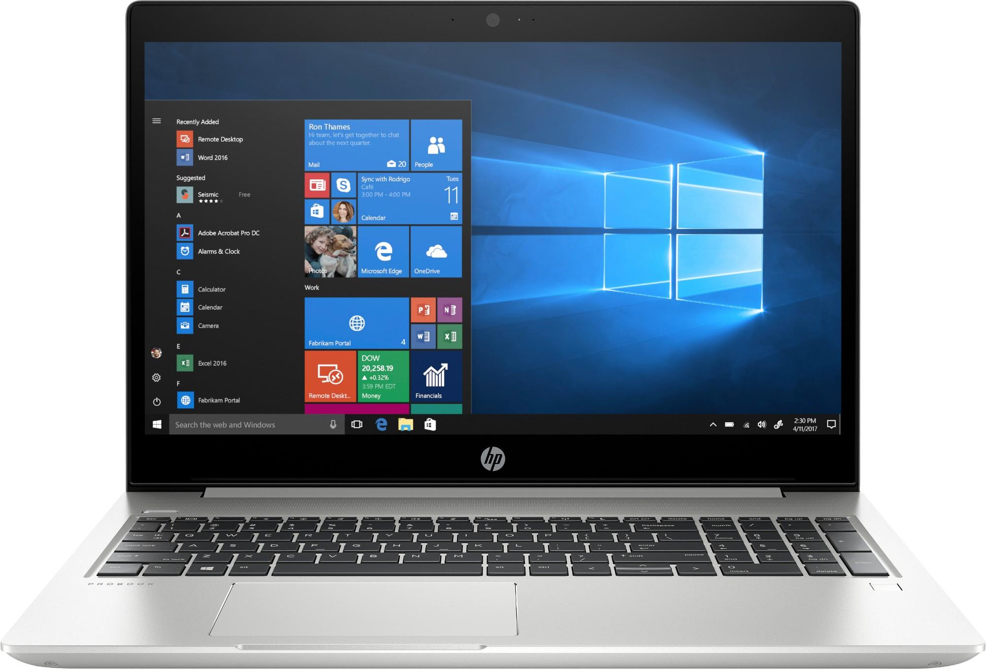 "HP ProBook 455 G6 Silver Notebook 39.6 cm (15.6"") 1920 x 1080 pixels AMD Ryzen 5 PRO 8 GB DDR4-SDRAM 256 GB SSD Windows 10 Pro"