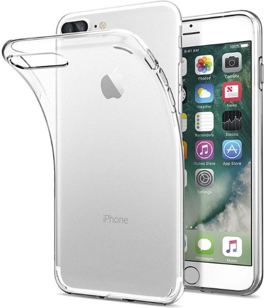 eSTUFF iPhone 7+/8+ Clear TPU Cover