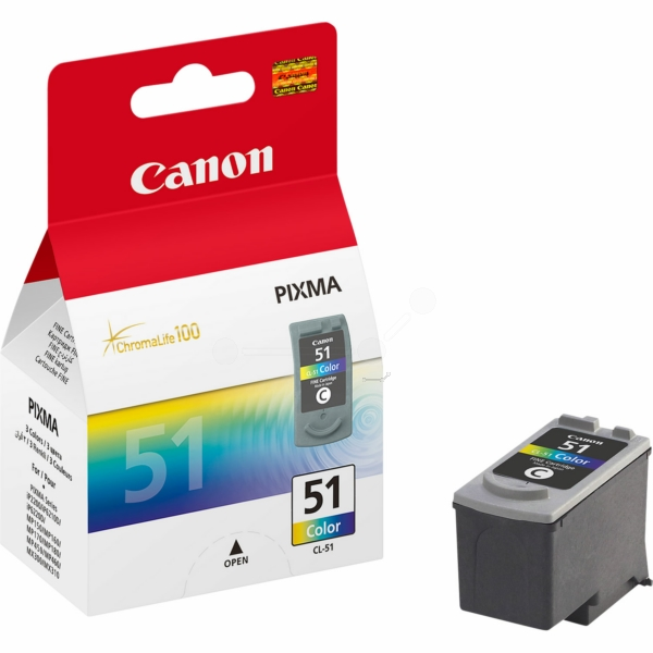 Canon 0618B001 (CL-51) Printhead color, 545 pages, 21ml