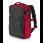 """HP OMEN notebook case 43.9 cm (17.3"""") Backpack Black,Red"""