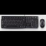 Logitech MK120 teclado USB QWERTY Portugués Negro