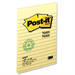 Post-It Notes, 4 in x 6 in, Canary Yellow, Lined, 12 Pads/Pack self-adhesive note paper