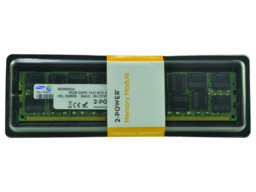 2-Power 16GB DDR3 1333MHz RDIMM LV Memory - replaces KTH-PL313LV/16G