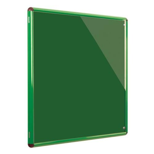 Metroplan Shield Design insert notice board Indoor Green Aluminium