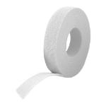 Cablenet 20mm x 150mm 25pcs Roll Velcro One Wrap Strap White