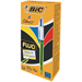 BIC 4 Colour Fluo Retractable Ballpoint Pen Black Blue Red Yellow Ink Ref 933948 [Pack 12]