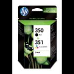 HP 350/351 Origineel Zwart, Cyaan, Magenta, Geel Multipack 2 stuk(s)