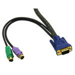 C2G 5m KVM Cable HD15 VGA M/M 5m Black KVM cable