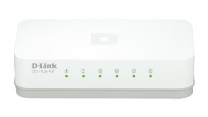 D-Link GO-SW-5E switch No administrado Fast Ethernet (10/100) Blanco