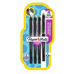 Papermate Erasable Gel Capped gel pen Black Medium 4 pc(s)