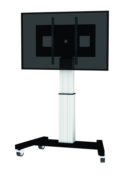 """Newstar Mobile Motorised TV/LFD Trolley for 42""""-100"""" screen, Height Adjustable - Silver"""