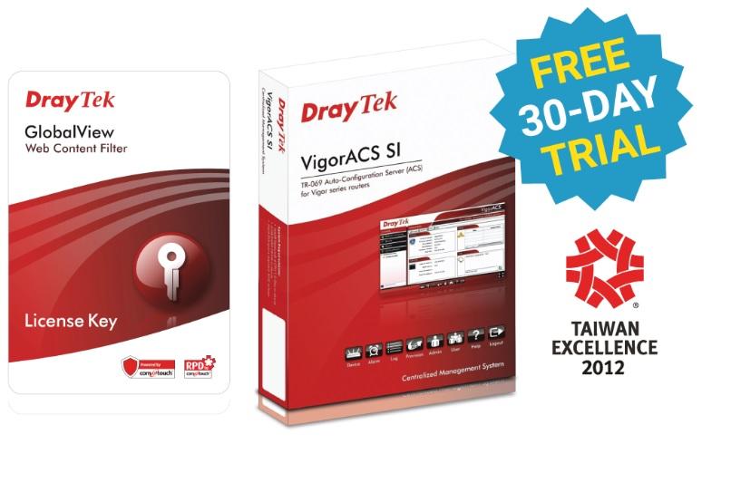 Draytek Web Content Filter Package for VigorFly 210 / Vigor2110 / 2120 / 2130 / 2710 / 2750 / 2760 / 2912 se