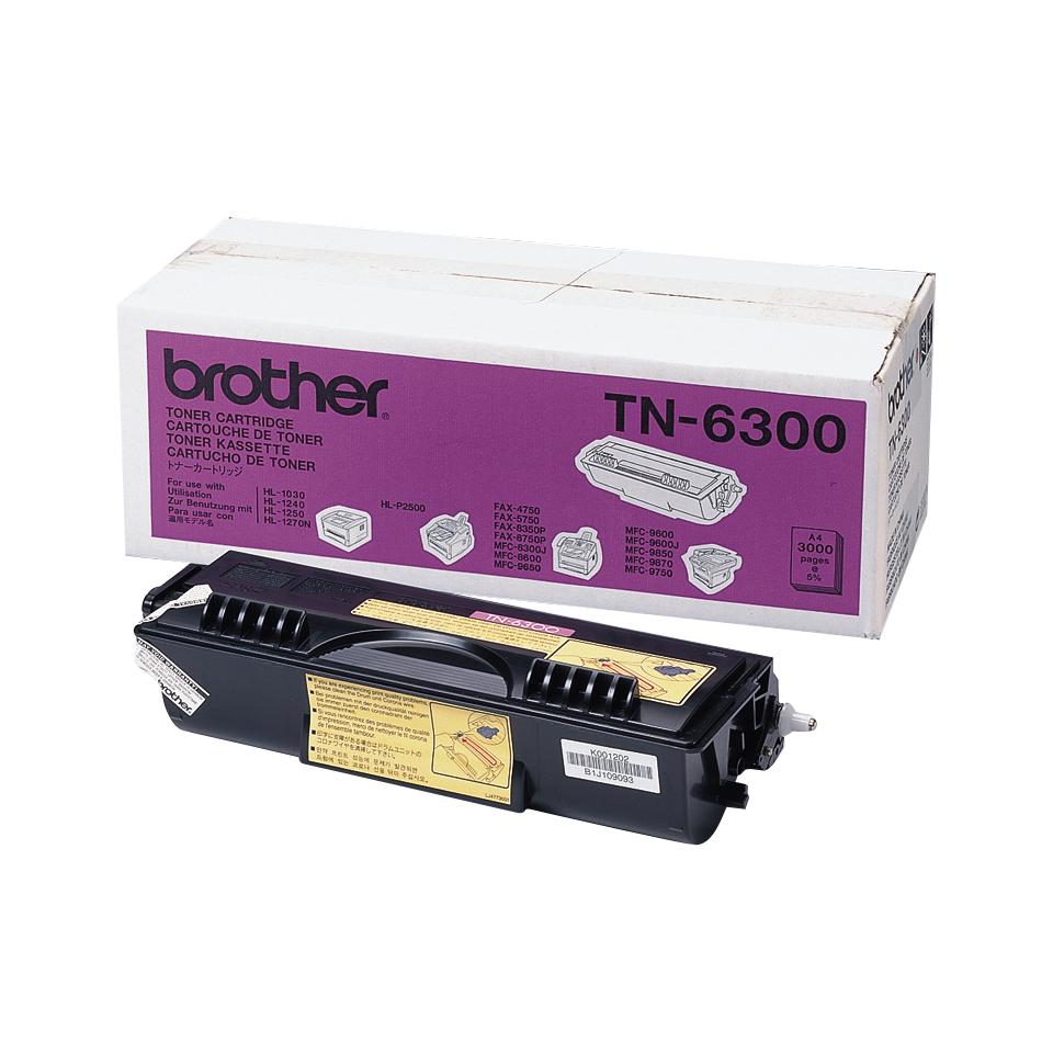 Brother TN6300 Original Negro 1 pieza(s)