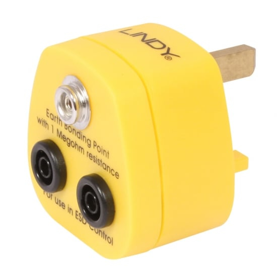 Lindy 40169 power plug adapter Yellow