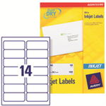 Avery White Address Label - Inkjet - J8163 White