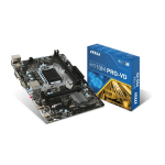 MSI H110M PRO-VD Intel H110 LGA 1151 (Socket H4) Mini ATX motherboard