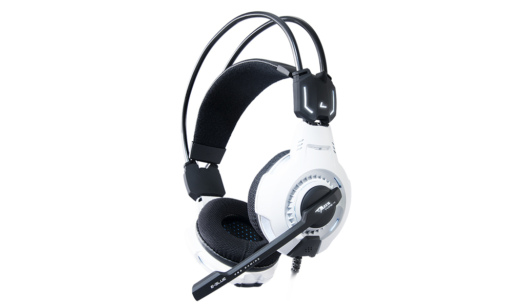E-blue Mazer 7.1 USB Binaural Head-band White headset