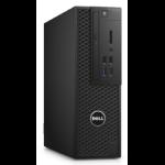 DELL Precision T3420 DDR4-SDRAM i7-7700 SFF 7th gen Intel® Core™ i7 8 GB 256 GB SSD Windows 10 Pro Workstation Black