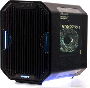 Antec - Cube - mini ITX - no power supply - transparent - USB/Audio