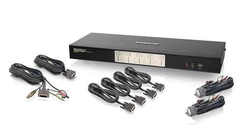 iogear GCS1644 KVM switch Black