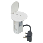 C2G 80861 Type G (BS 1363) White socket-outlet