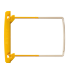 Jalema Clip, cover yellow, tube yellow, extension piece white, box 100 items