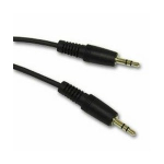 Rose 3.5mm, M-M, 10 ft audio cable 3 m Black