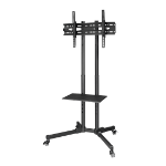 "Hama 00118098 flat panel floorstand 177.8 cm (70"") Portable flat panel floor stand Black"
