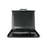 "StarTech.com 1U DuraView 17"" Folding LCD Rack Console with 8 Port Multi-Platform KVM"