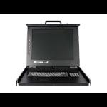 "StarTech.com 1U DuraView 17"" Folding LCD Rack Console with 8 Port Multi-Platform KVM RKCONS1708GB"