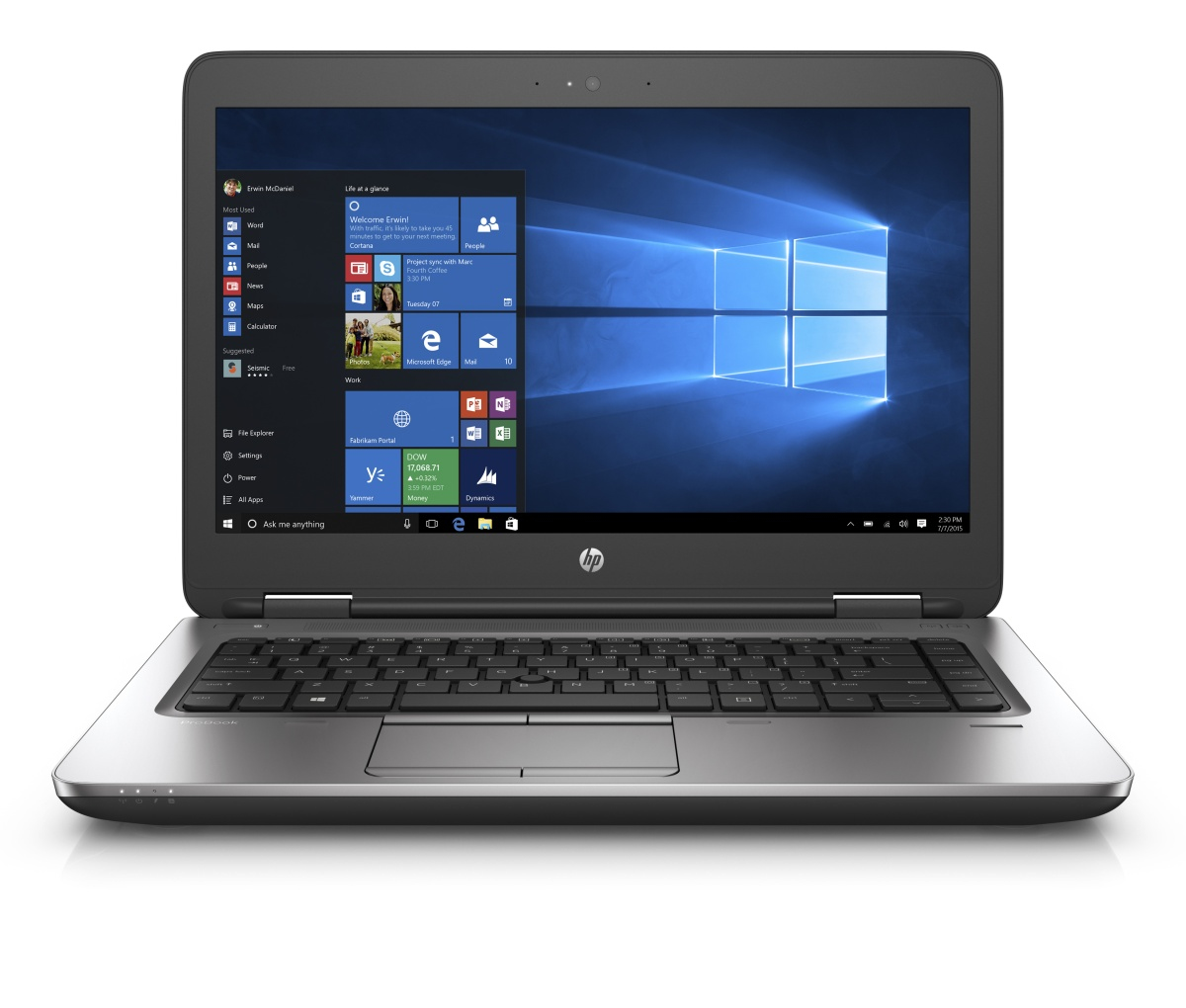 """HP ProBook 640 G2 3.7GHz i3-6100 14"""" 1366 x 768pixels Silver"""
