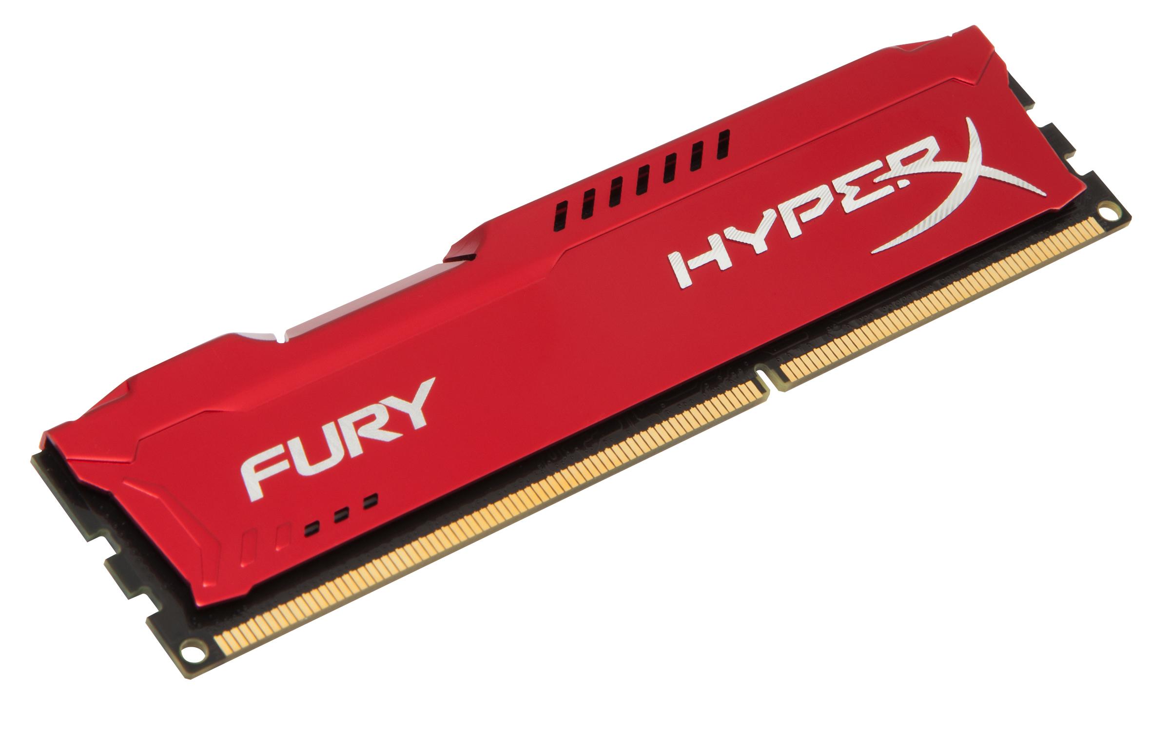 HyperX FURY Red 4GB 1600MHz DDR3 4GB DDR3 1600MHz memory module