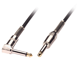 Lindy 6.3mm M/M 1.0m 1m 6.35mm 6.35mm Black audio cable