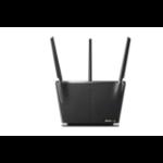 ASUS RT-AX68U AX2700 AiMesh draadloze router Ethernet Dual-band (2.4 GHz / 5 GHz) Zwart