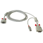 Lindy Combined , 2m KVM cable Grey
