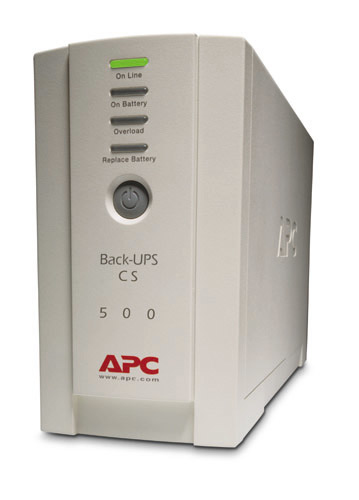APC Back-UPS uninterruptible power supply (UPS) Standby (Offline) 500 VA 300 W 4 AC outlet(s)