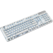 Razer Pro Type keyboard USB + Bluetooth Silver, White