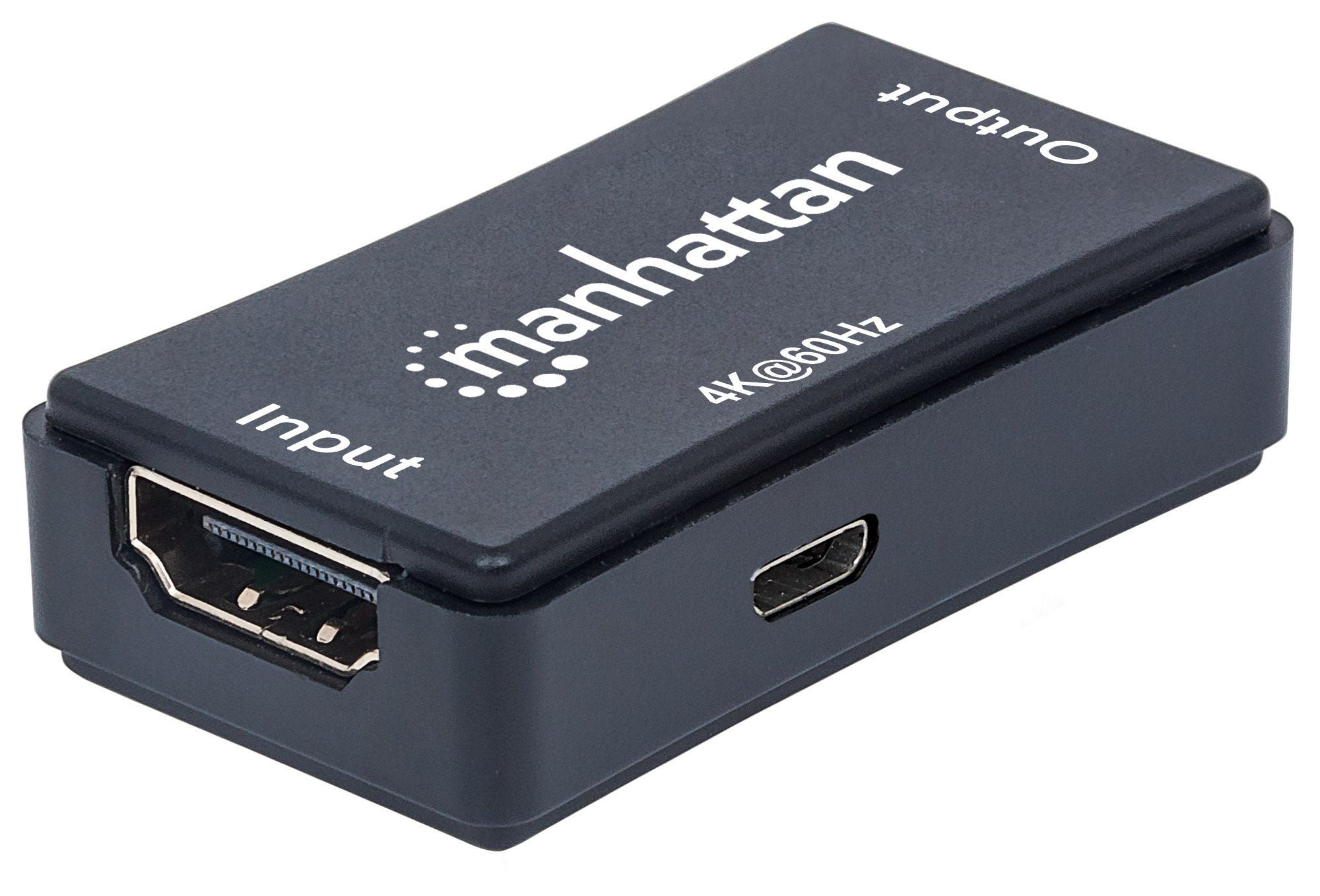 Manhattan 4K HDMI Repeater, Active, Distances up to 40m, Black