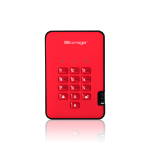 iStorage diskAshur2 256-bit 128GB USB 3.1 secure encrypted solid-state drive - Red IS-DA2-256-SSD-128-R