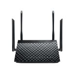 ASUS DSL-AC55U wireless router Dual-band (2.4 GHz / 5 GHz) Gigabit Ethernet Black