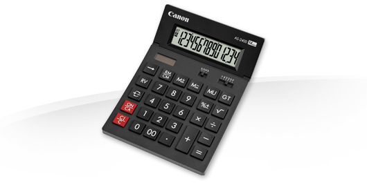 Canon AS-2400 calculator Desktop Display Black